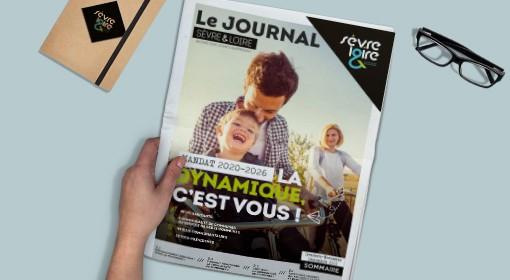 mokup journal Sèvre & Loire n1